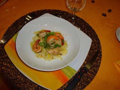 recette - saint jacques sur fondue de poireaux