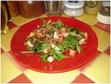 recette - salade de pissenlits