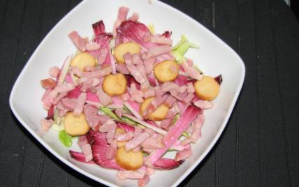 recette - salade d'endives rouges