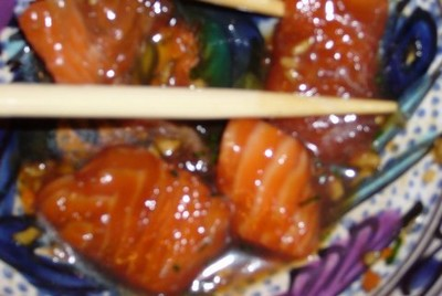 recette - saumon mariné à la japonaise