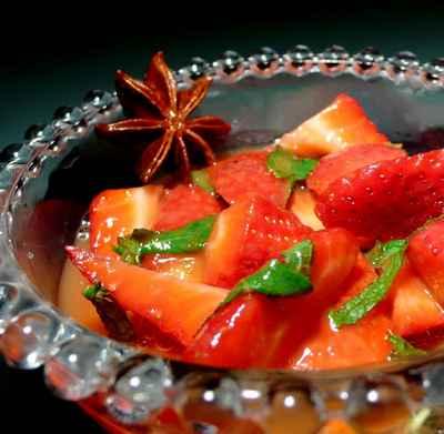 recette - soupe de fraises au miel exotique