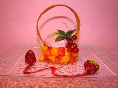 recette - tartare de melon et pastèque à la confiture melon frmaboise, croustill