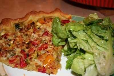 recette - tarte salée ensoleillée