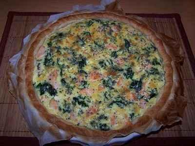 recette - tarte saumon brocolis
