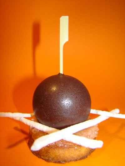 recette - tartelette 'pomelo' sphère' gourmande