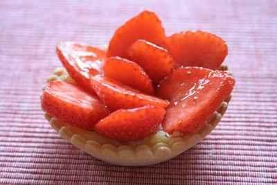 recette - tartelettes aux fraises express