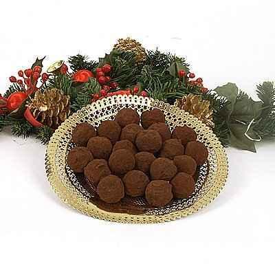 recette - truffes de noël à l'amaretto