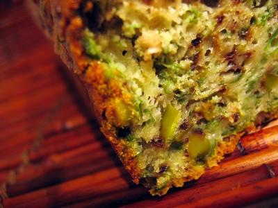 recette - cake à la roquette, aux noix et aux pistaches