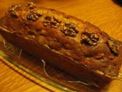 recette - cake aux noix