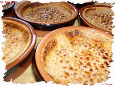 recette - crèmes brûlées à la framboise