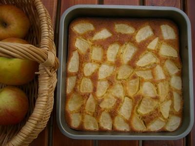 recette - délice aux poires ou pommes