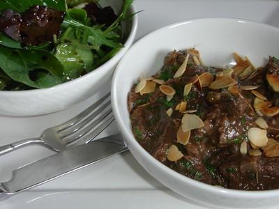 recette - emincée d'onglet de boeuf aux doux épices et à la coriandre