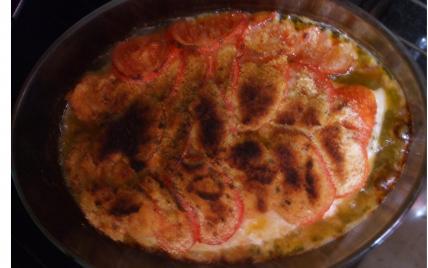 recette - filet de perche en croûte de tomates
