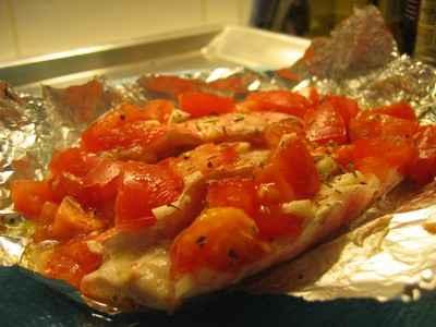 recette - filets de rouget en papillote