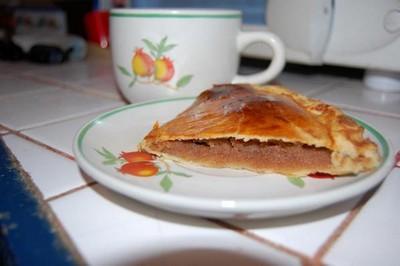 recette - galette frangipane et carambar
