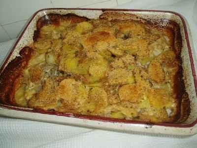 recette - gratin de cabillaud aux deux pommes