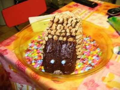 recette - hérisson au chocolat et amandes
