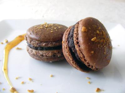 recette - macarons au chocolat & à l'érable