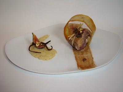 recette - magret de canard farci et tuile au roquefort papillon, écrasée de ratt
