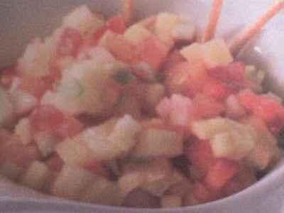 recette - minestrone de fruits frais