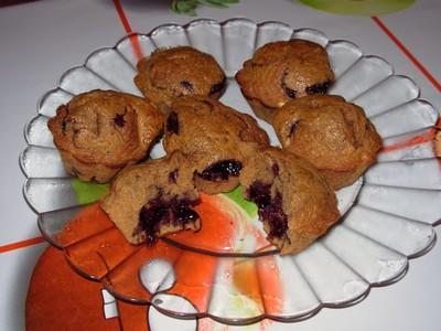 recette - muffins à la châtaigne et à la myrtille