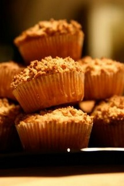recette - muffins au crumble