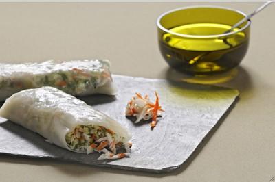 recette - rouleau de printemps express au surimi