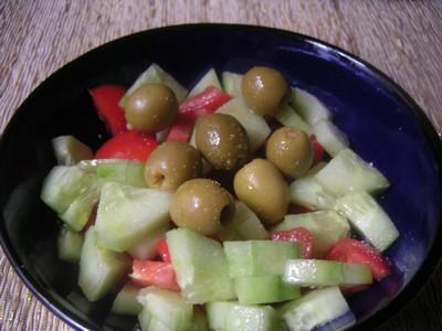 recette - salade aux tomates et au concombre
