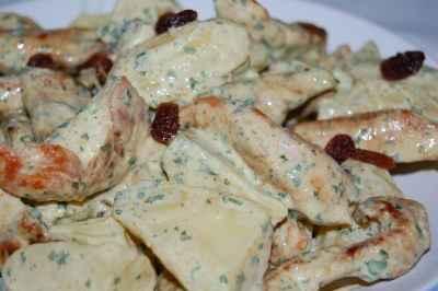 recette - salade de pommes de terre au poulet et curry