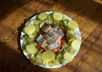 recette - salade de pommes de terre aux harengs