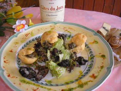 recette - salade d'escargots en croquemitaine