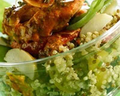 recette - salade quinoa au poulet paprika