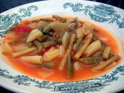 recette - soupe aux haricots verts
