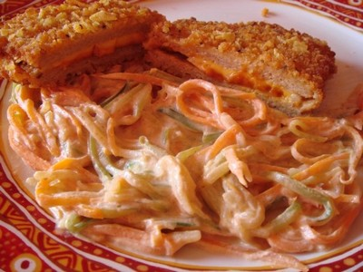 recette - spaguetti courgettes carottes