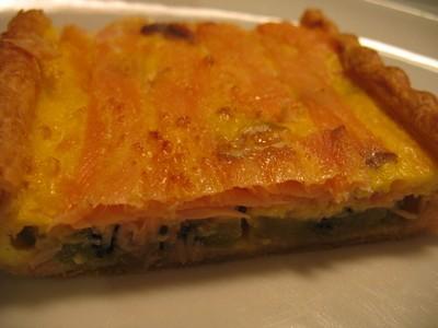 recette - tarte kiwi/saumon