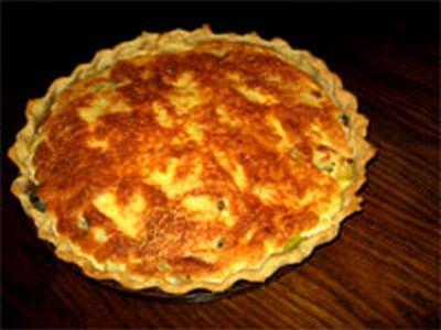recette - tarte soufflée aux poireaux