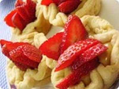 recette - tartelettes de manioc aux fraises