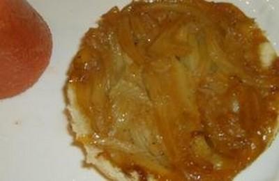 recette - tatin de fenouil, sorbet de tomate à la coriandre