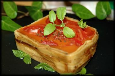 recette - terrine de tomates fraîches et aubergines