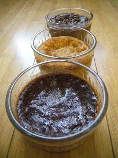 recette - trio de crèmes noir / cardamome, praliné / orange, blanc / earl grey