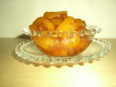 recette - ananas confit à l'aigre doux