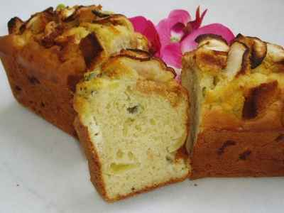 recette - cake au roquefort, pommes et pain d'épices