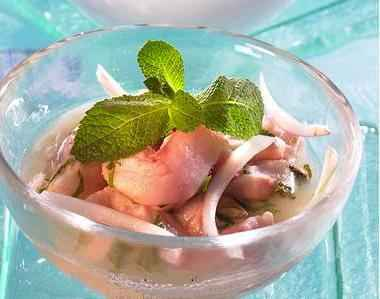 recette - ceviche de daurade noix de coco