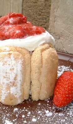 recette - charlotte aux fraises façon tiramisu