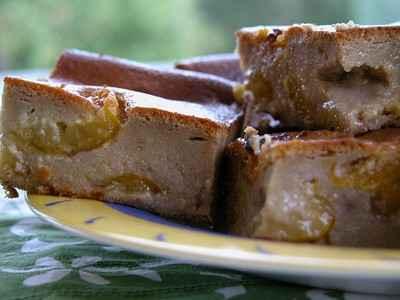 recette - clafoutis de pain d'épices aux mirabelles