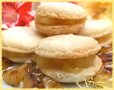 recette - coco macarons à l'ananas