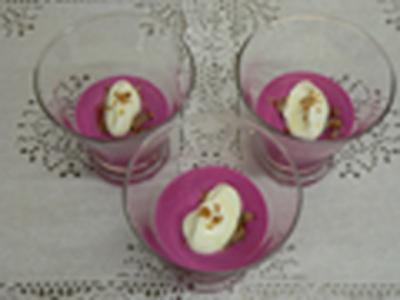 recette - crème acidulée de betteraves rouges, joue de cochon au tournesol