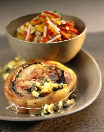 Recette croustillants de t te de veau et petits l gumes - Cuisiner une tete de veau ...