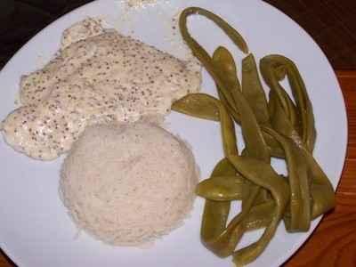 recette - dinde et riz à la crème fraîche