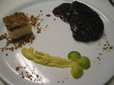 recette - filet mignon de black angus beef, sauce au cashel blue et aux myrtille